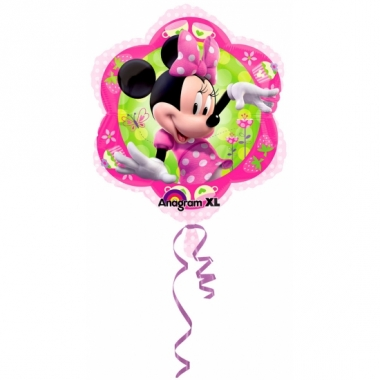 Themafeestje minnie mouse folie ballonnen 45 cm