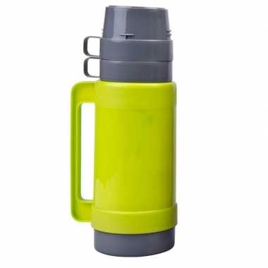 Thermoskan/isoleerkan 1 liter limegroen