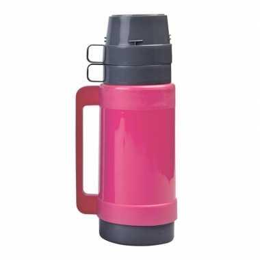 Thermoskan/isoleerkan 1 liter roze