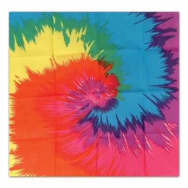 Tie dye hoofddoek 55 cm