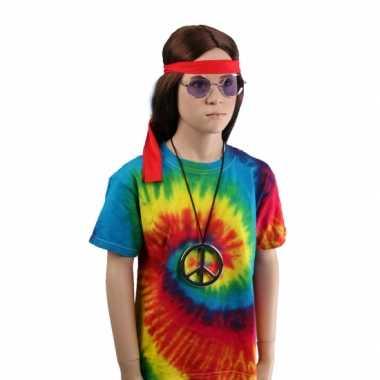 Tie-dye t-shirt regenboog voor kinderen