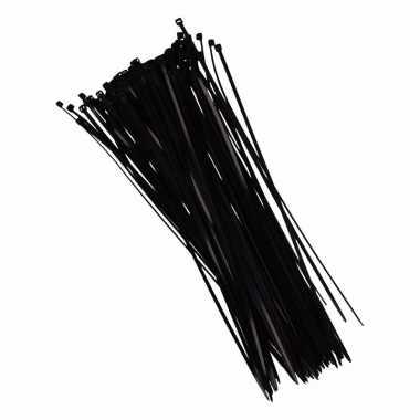 Tie-wraps zwart 28 cm 100 stuks
