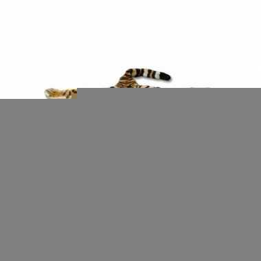 Tijger fleecedeken bruin 74 x 90 cm