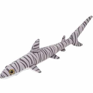 Tijgerhaaien speelgoed artikelen tijgerhaai knuffelbeest gestreept 60