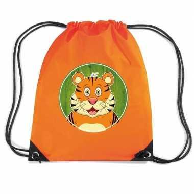 Tijgers rugtas / gymtas oranje voor kinderen