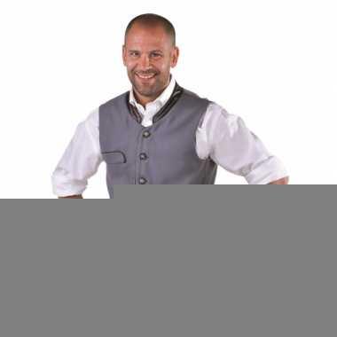 Tiroler klederdracht grijs gilet