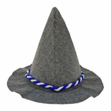 Tirolerhoed met blauw en wit touw