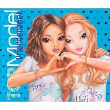 Topmodel vriendenboek blauw