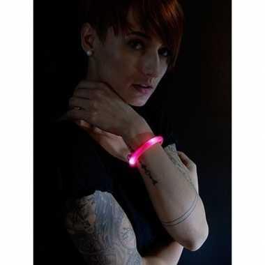 Toppers - 3x rode led licht wikkel armbanden voor volwassenen