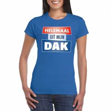 Toppers - blauw helemaal uit mijn dak t-shirt dames