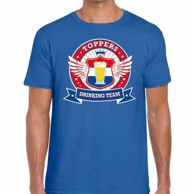 Toppers - blauw toppers drinking team t-shirt heren
