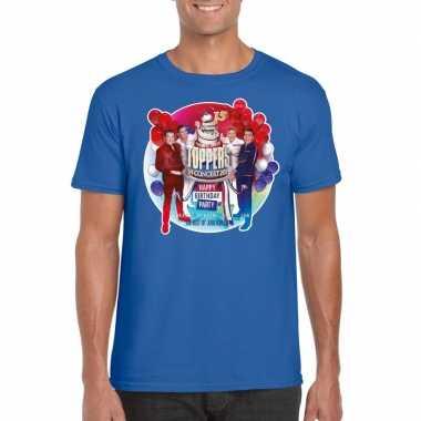 Toppers - blauw toppers in concert 2019 officieel t-shirt heren