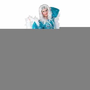 Toppers - blauwe disco queen seventies verkleed jurk voor dames