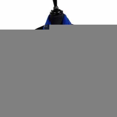 Toppers - blauwe glitter pailletten disco sjaal