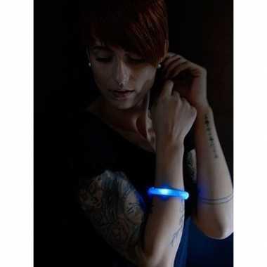 Toppers - blauwe led licht wikkel armband voor volwassenen
