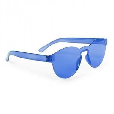 Toppers - blauwe verkleed zonnebril voor volwassenen