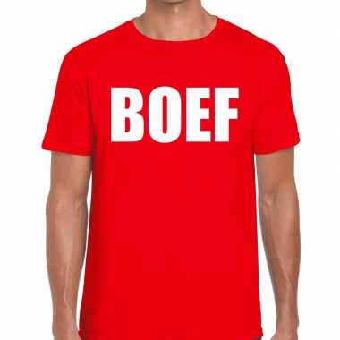 Toppers - boef heren t-shirt rood