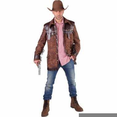 Toppers bruine cowboy jas voor heren