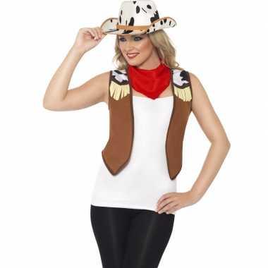 Toppers cowboy verkleed set voor dames