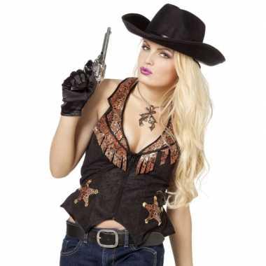 Toppers cowboy vestje voor dames