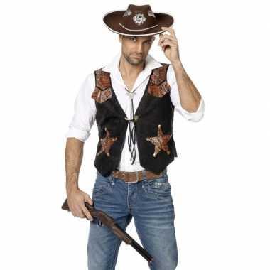 Toppers cowboy vestje voor heren
