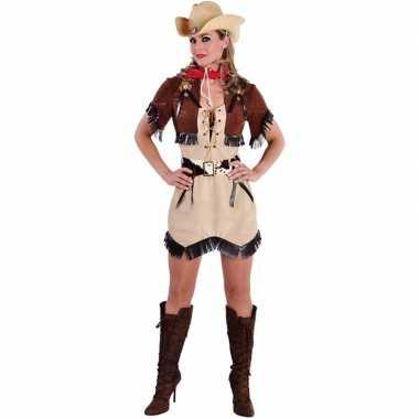 Toppers cowgirl jurkje met bolero voor dames