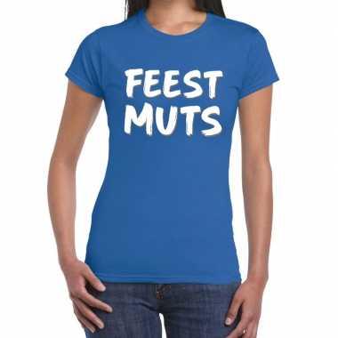 Toppers - feestmuts fun t-shirt blauw dames