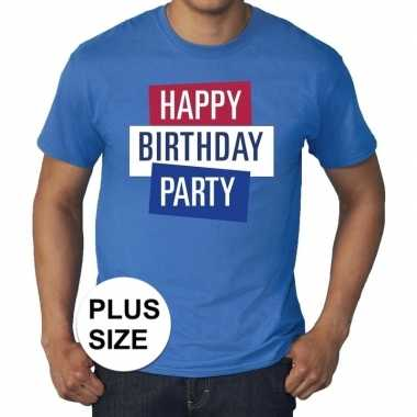 Toppers - grote maten toppers happy birthday party heren t-shirt offi