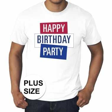 Toppers - grote maten wit toppers happy birthday party t-shirt offici