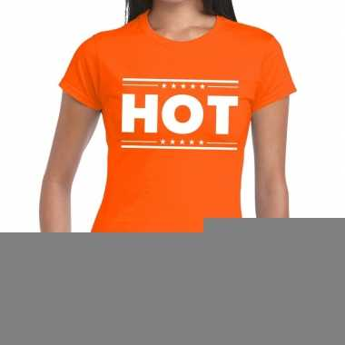Toppers - hot t-shirt oranje dames