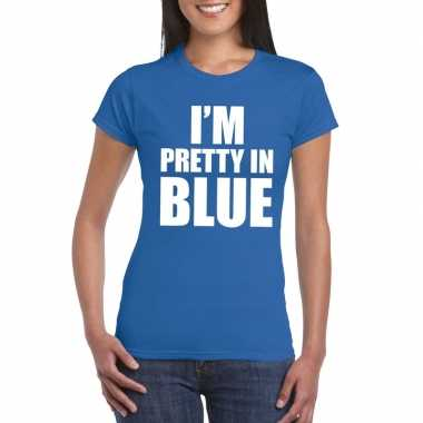 Toppers - i'm pretty in blue t-shirt blauw dames