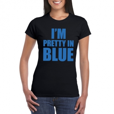 Toppers - i'm pretty in blue t-shirt zwart dames