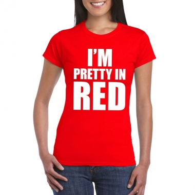 Toppers - i'm pretty in red t-shirt rood dames