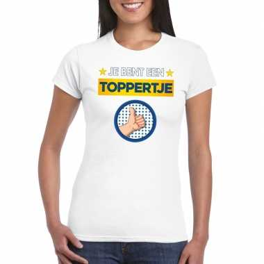 Toppers - je bent een toppertje t-shirt wit dames