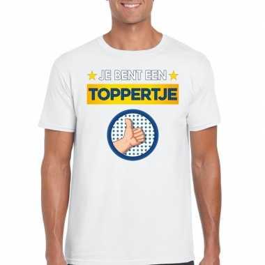 Toppers - je bent een toppertje t-shirt wit heren