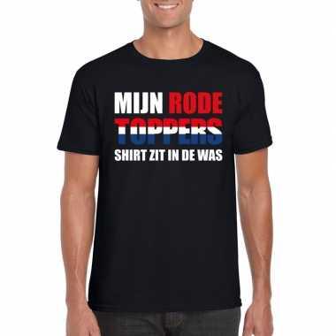 Toppers - mijn rode toppers shirt zit in de was t-shirt zwart heren