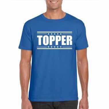 Toppers - topper t-shirt blauw heren
