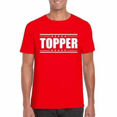 Toppers - topper t-shirt rood heren