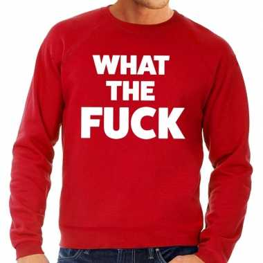Toppers - what the fuck tekst sweater rood