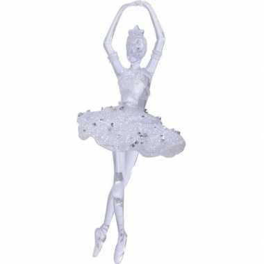 Transparante ballerina kerstversiering hangdecoratie 17,4 cm