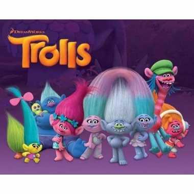 Trolls characters films poster 40 x 50 cm