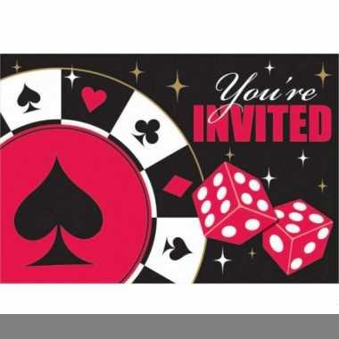 Uitnodigingskaart poker spel