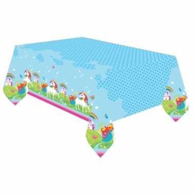 Unicorn plastic tafellaken 180 cm
