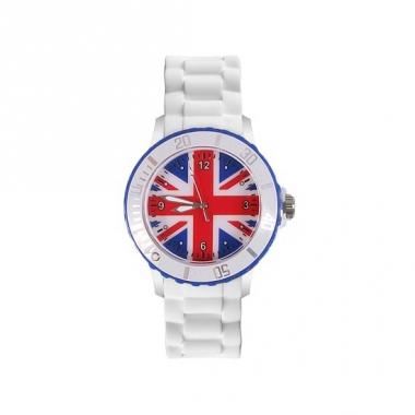 Union jack siliconen horloge