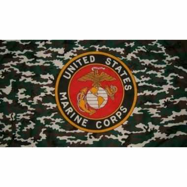 Us marine corps vlag with camouflage