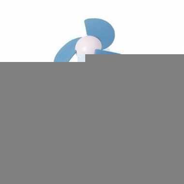 Usb bureau ventilator wit/blauw 22 cm