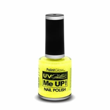 Uv glitter nagellak neon geel