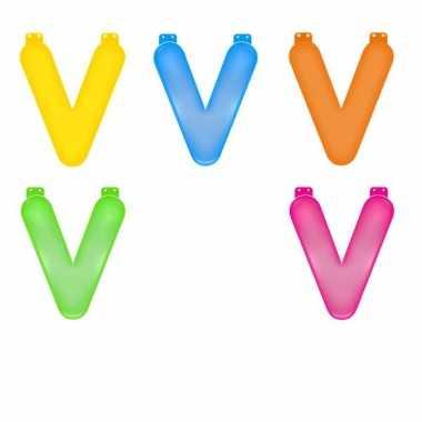 Verjaardags letters opblaasbaar v
