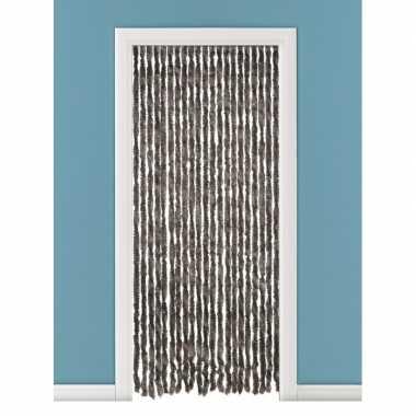 Vliegengordijn/deurgordijn kattenstaart bruin 93 x 230 cm