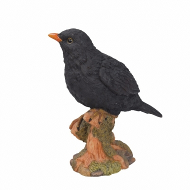 Vogel beeldje merel 20 cm trend